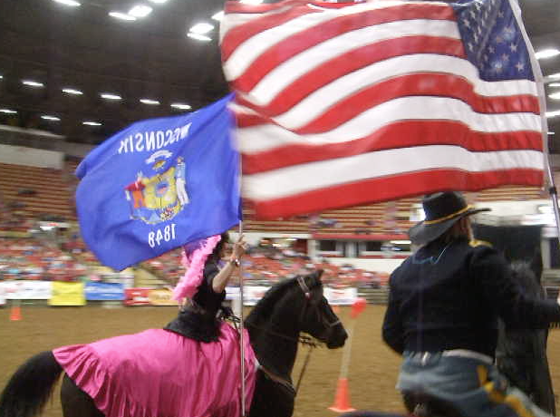 Bringing in the colors-2015 Midwest Horse Fair