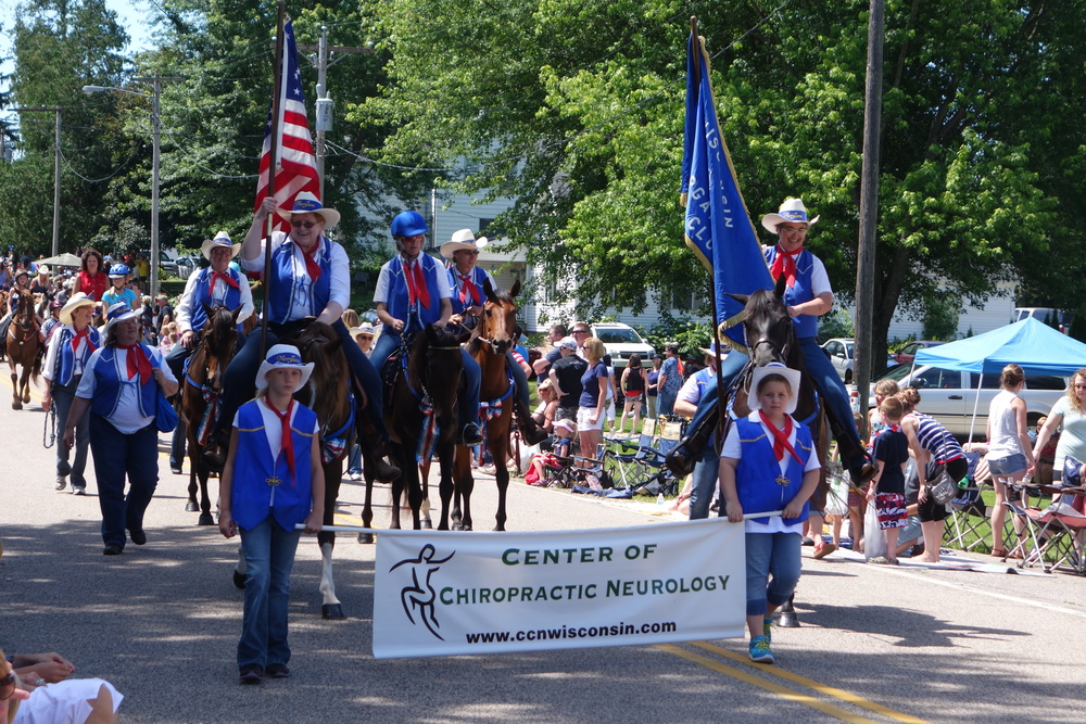 Wisconsin Morgan Horse Club parade unit at Witwen parade