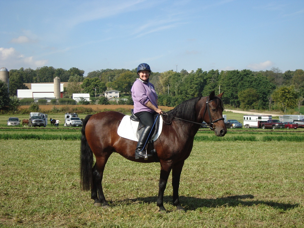 Marie Stewart and Peanut at September Field Day
