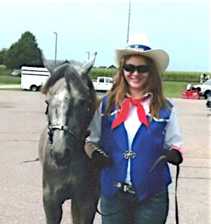 Sarah Gay and the beautiful and unusual gray Morgan, Georgia, are headed to the Midwest Horse Fair.