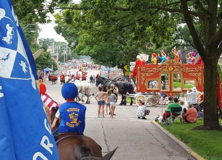 View from the saddle at the Baraboo Circus Parade