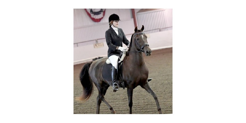 Dressage partners and Hi Pt. Jr. Exhibitor at Jubilee: Alyssa Pedersen and Tony Fennelly, a 21 year old mare