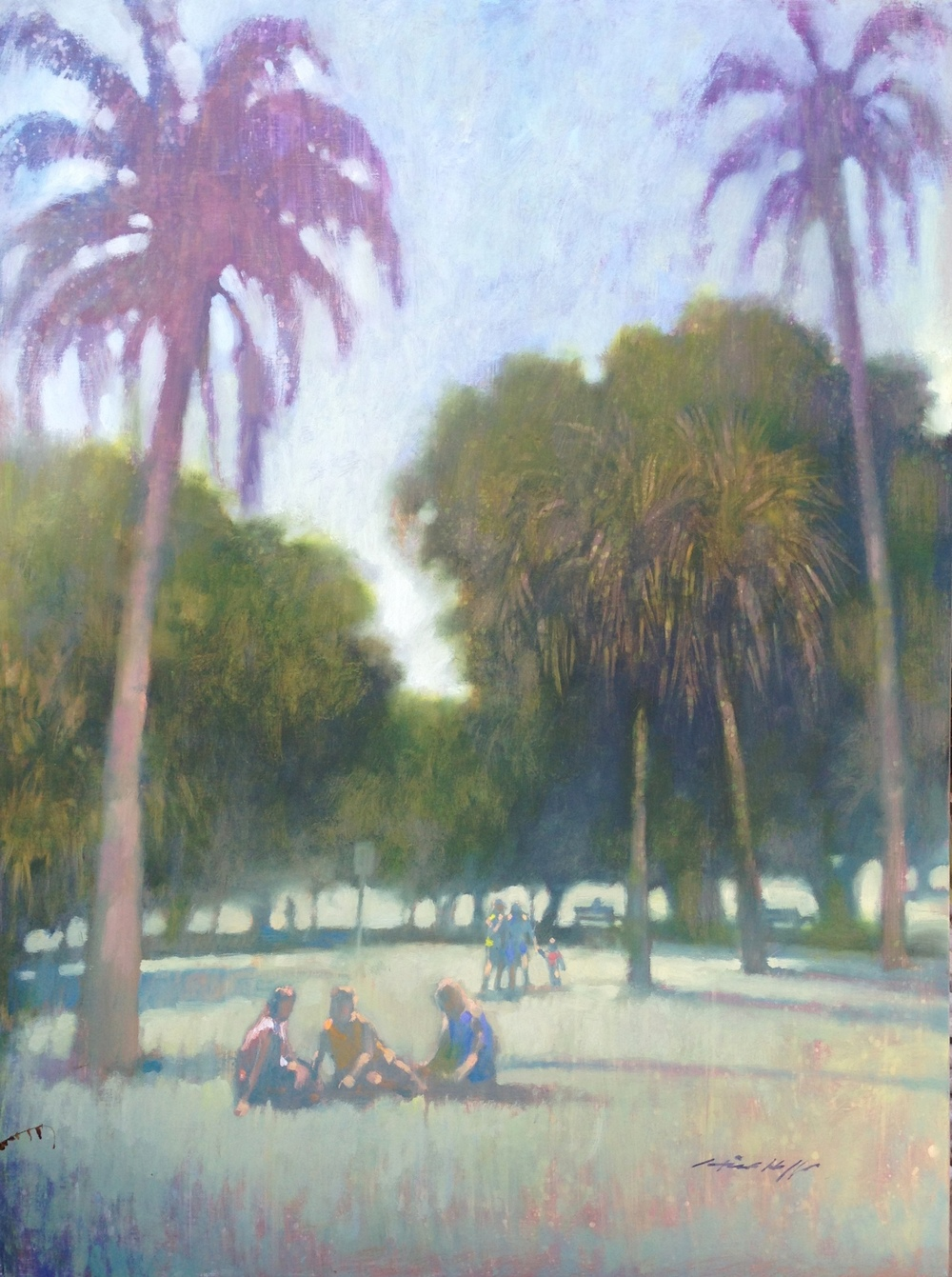 Under the Palms (New Farm Park)