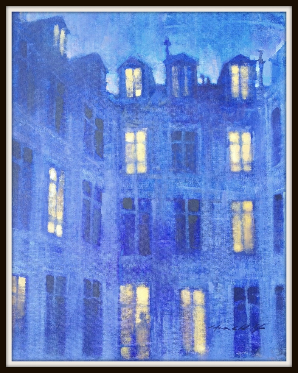 Night view, from my studio window, le Marais