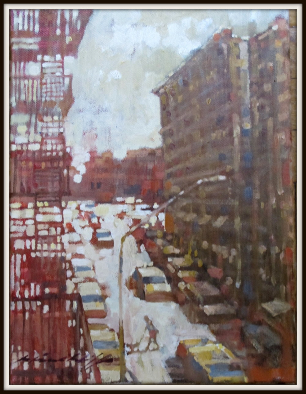 "Study for ""View from the Studio, Harlem"""