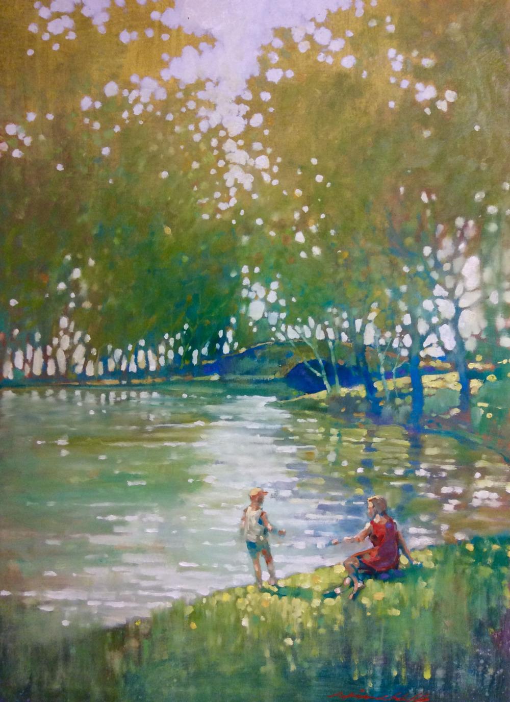 """Monet Moment, Prospect Park"""