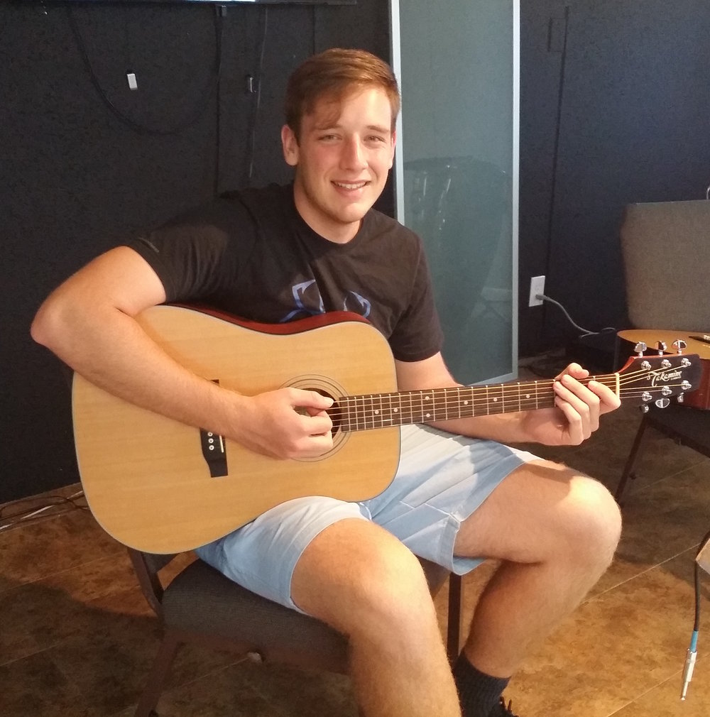"""Richard really helped me get the hang of playing the guitar. When I came to him I couldn't play anything, I just bought my guitar. After a few lessons I could already see improvements and am sure I found the right teacher.""    Micah F."