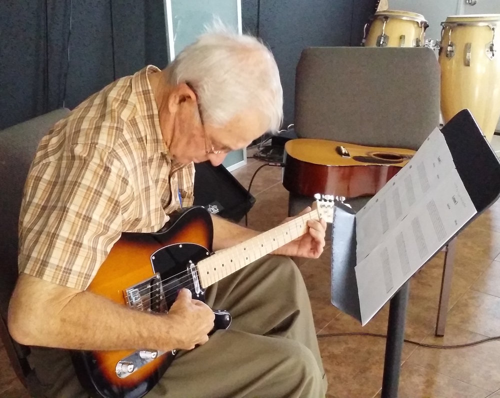 """Guitar has always been a dream for me. I started at a late age, but Richard's patience and willingness to keep me motivated has encouraged me to keep pushing myself. I've learned how to set manageable goals and reach them. Thanks Rich!""     George P."