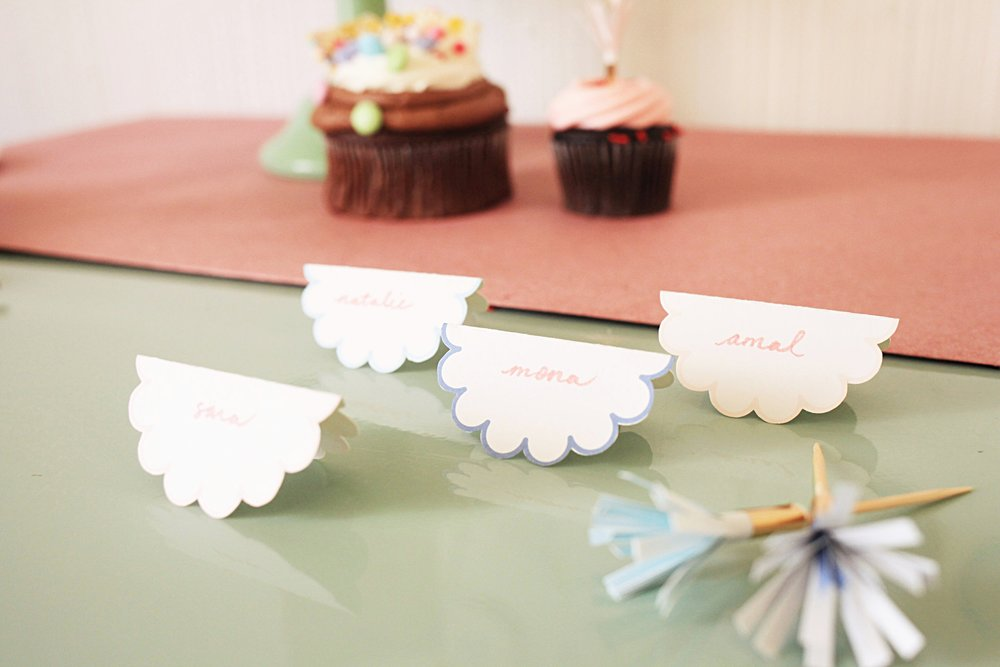 We designed two different type of place cards, use the extras to label food/sweets!