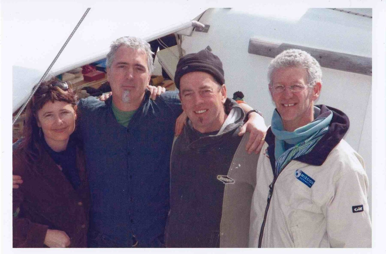 The original gang of four who got the boat built - (L to R) Natalie Davey, Tim Oddie, Garry McKechnie and Peter Malcolm (Missing Nick Kelly which makes 5!) Homage to Peter Malcolm who died two years ago. Pelican #photooftheday