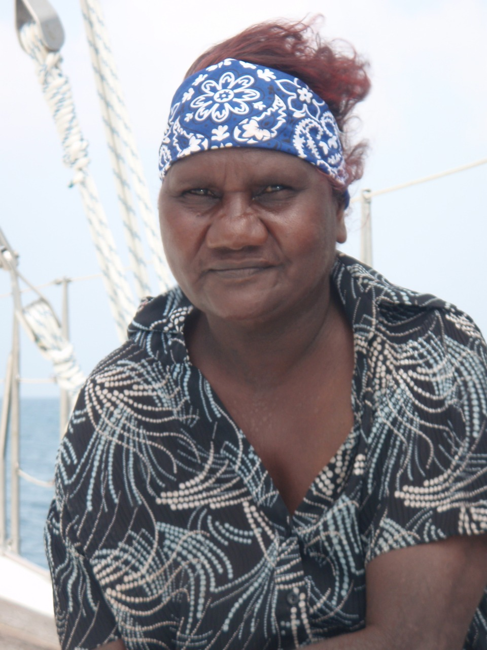 Phylamena Naylor- one of the terrific Guugu Yimithirr Elders taking part in the Hope Vale/ Pelican project (2010) #seacountry #photooftheday