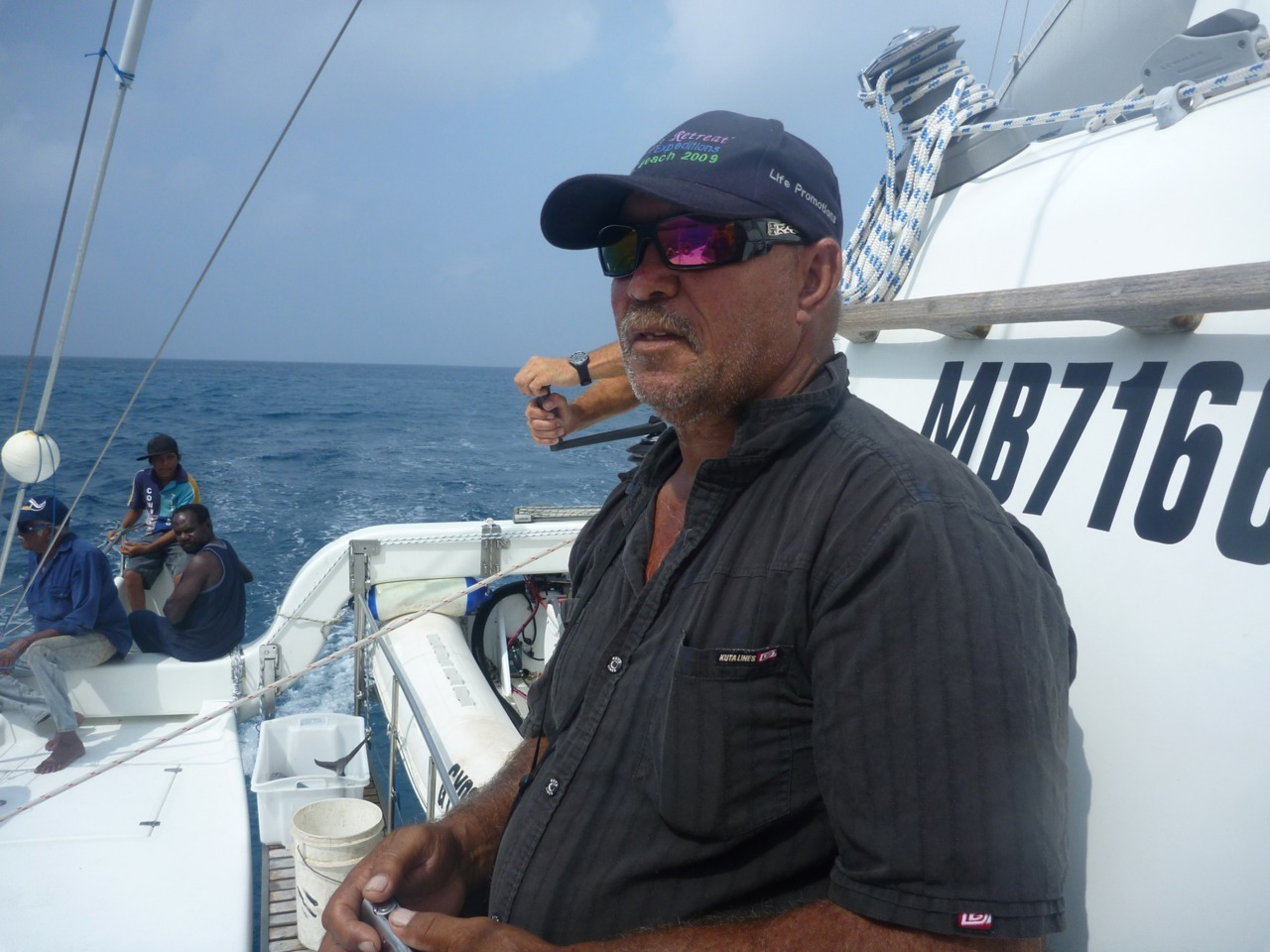 Des Bowen (Guugu Yimithirr Elder) from Hope Vale on board Pelican1 during 2010 project. Des is one of the key partners and developers of the program we have run since 2004. #CapeYork #HopeVale #SeaCountry