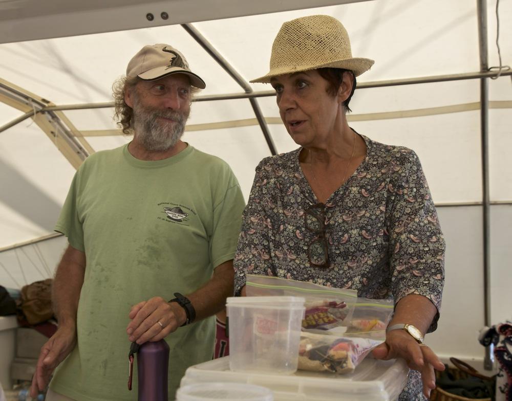 Harry Breidahl - marine educator with Aunty Carolyn Briggs