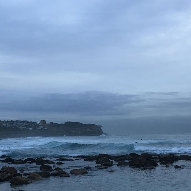 Moody blues after biblically spectacular sunrise #brontebeach