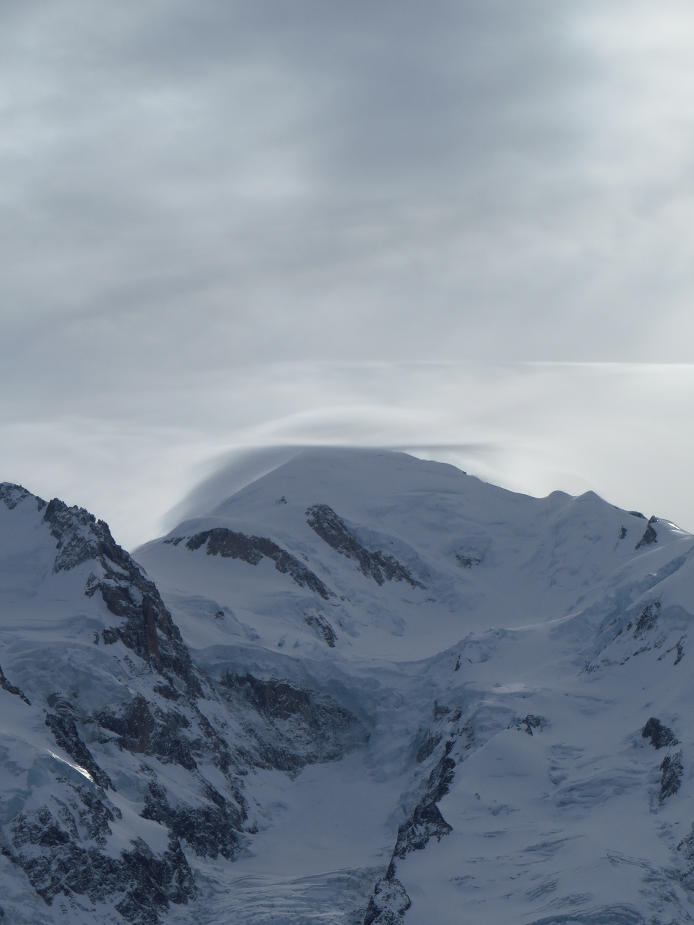 Mt Blanc, with a cloud for a hat.