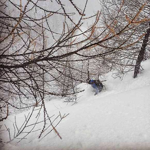Pow Day at La Thuile in italy