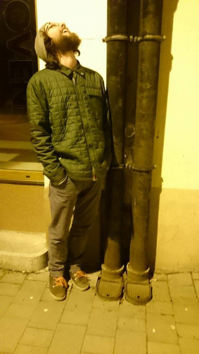 We came across this tall dude in Liptovsky Mikulas. He was suuuuuper tall. And he had sick slippers.