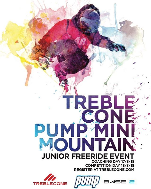 @trebleconenz Mini Mountain is on for this Saturday! This is a super fun event for 8 - 16 year olds to test their skills as Freeriders! To enter, head to the Treblecone website and go to the tabs - What's Happening/events and scroll down to Pump Mini Mountain.
