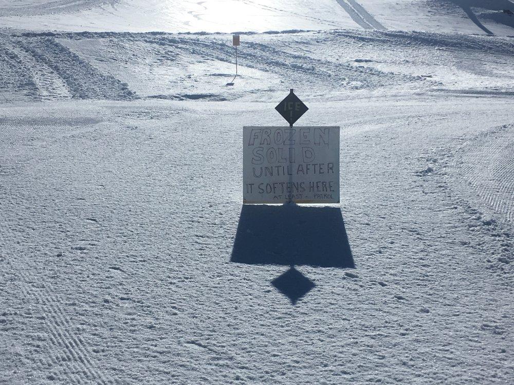 Standard Turoa signage.