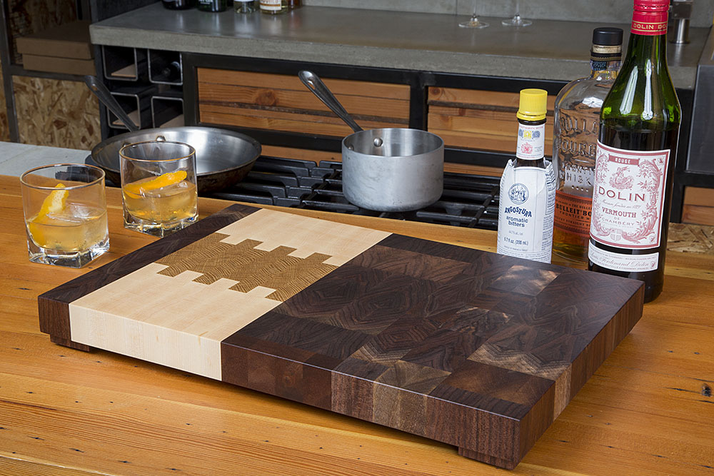 the northwest end grain butcher block cutting board portland oregon claro walnut maple white oak