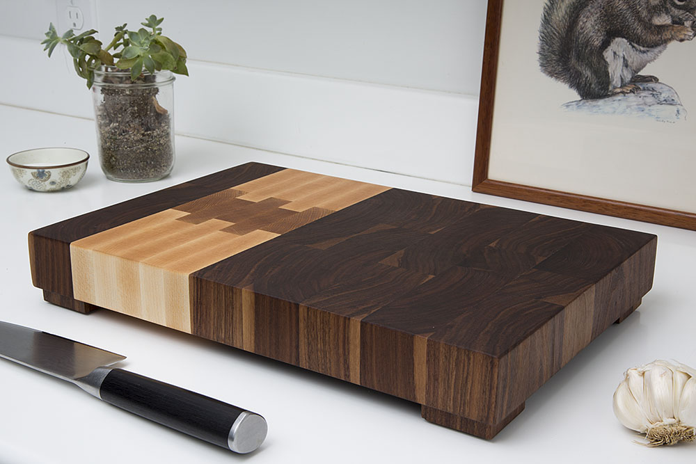 the original northwest block end grain butcher block cutting board