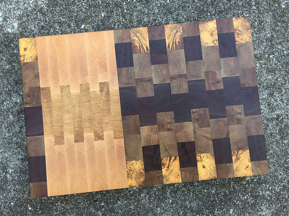 the northwest end grain butcher block cutting board local pacific northwest hardwoods