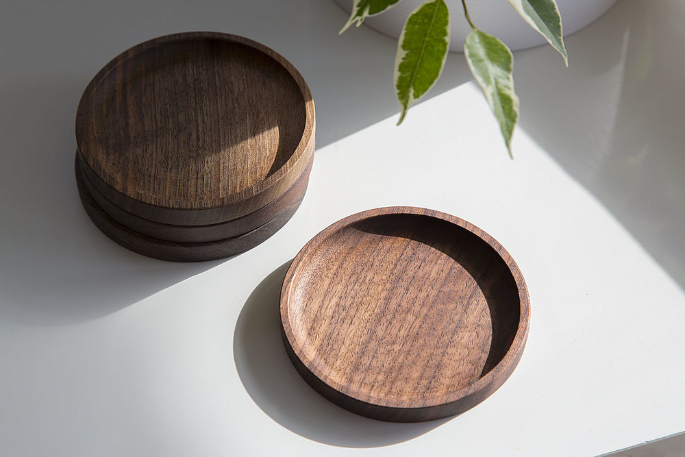 walnut coasters wood wooden usa