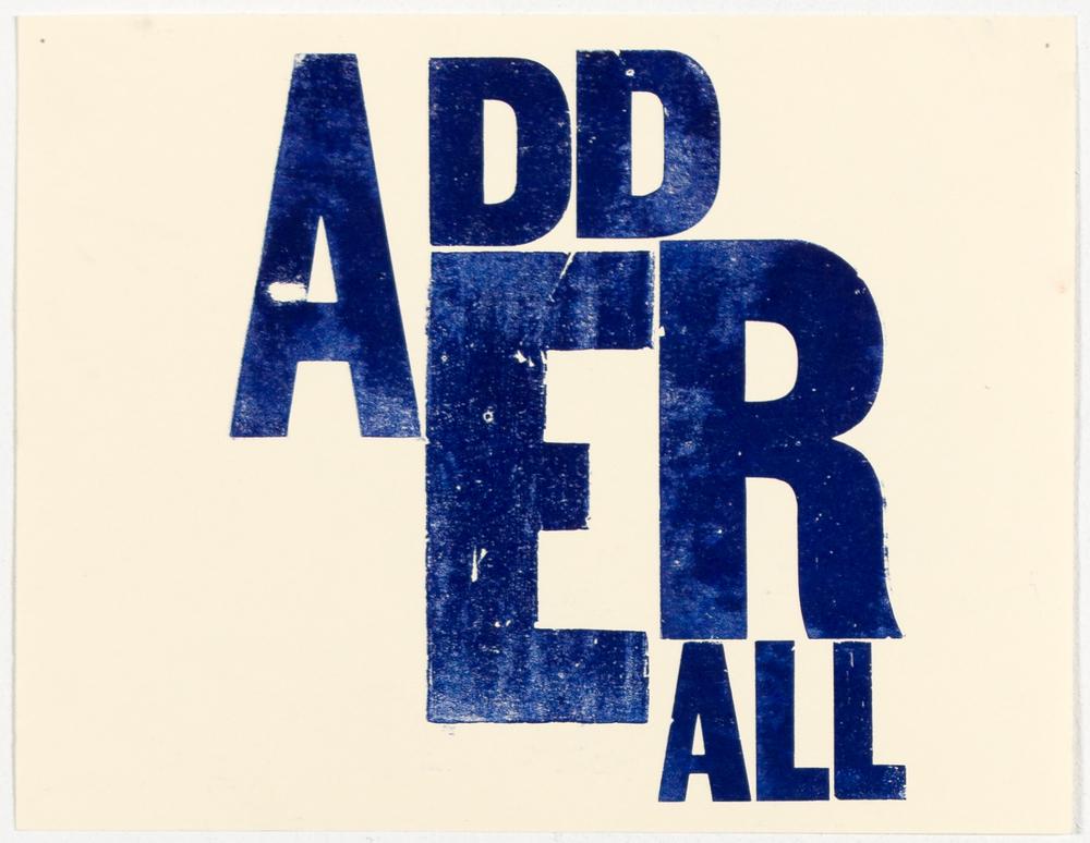 Adderall (print)