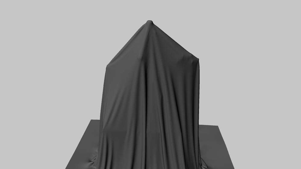 Digital cloth simulation using Maya's nCloth for   Monument Park