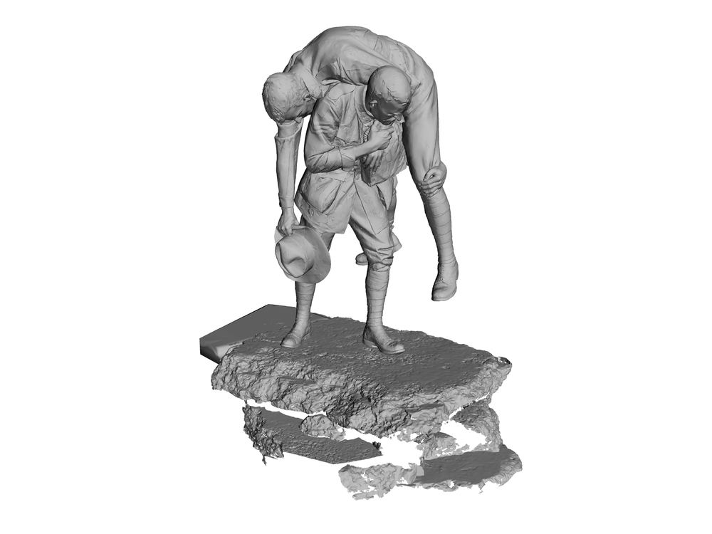 3D scan of the  'Cobbers'  statue at the Shrine of Remembrance, Melbourne