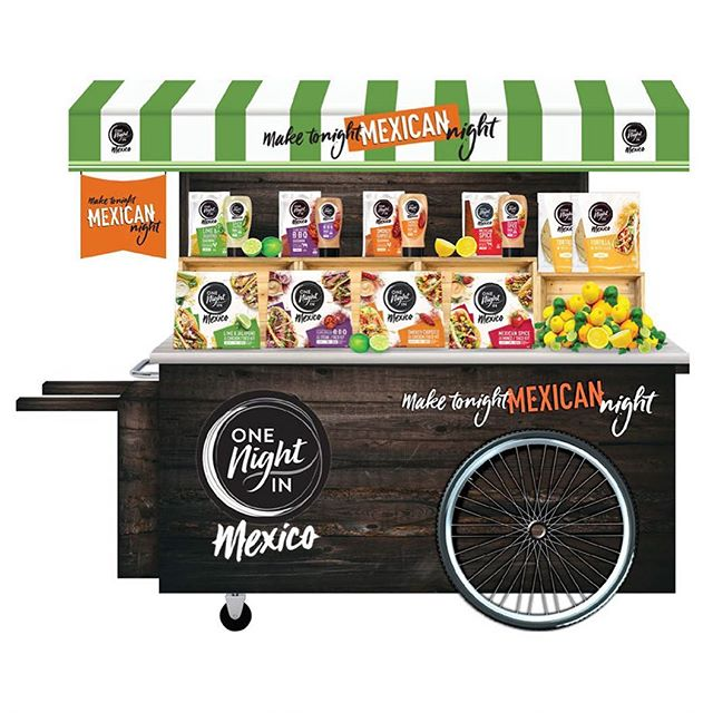 Hey amigos, here's a food cart stand design I work on for #onenightinmexico * * * #fmcg #graphicdesign #mexicanfood #tacos #foodcart #foodartist #onenightinmexico