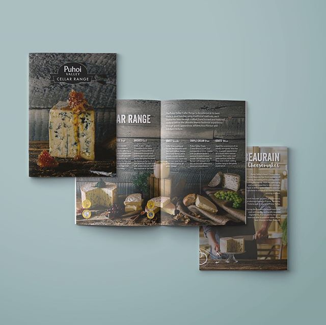 Everyone loves Cheese 🧀 - booklet design for the delicious Puhoi Valley Cheese Cellar Range • • • #cheese #design #FMCG #advertising #booklet #foodartist #foodporn