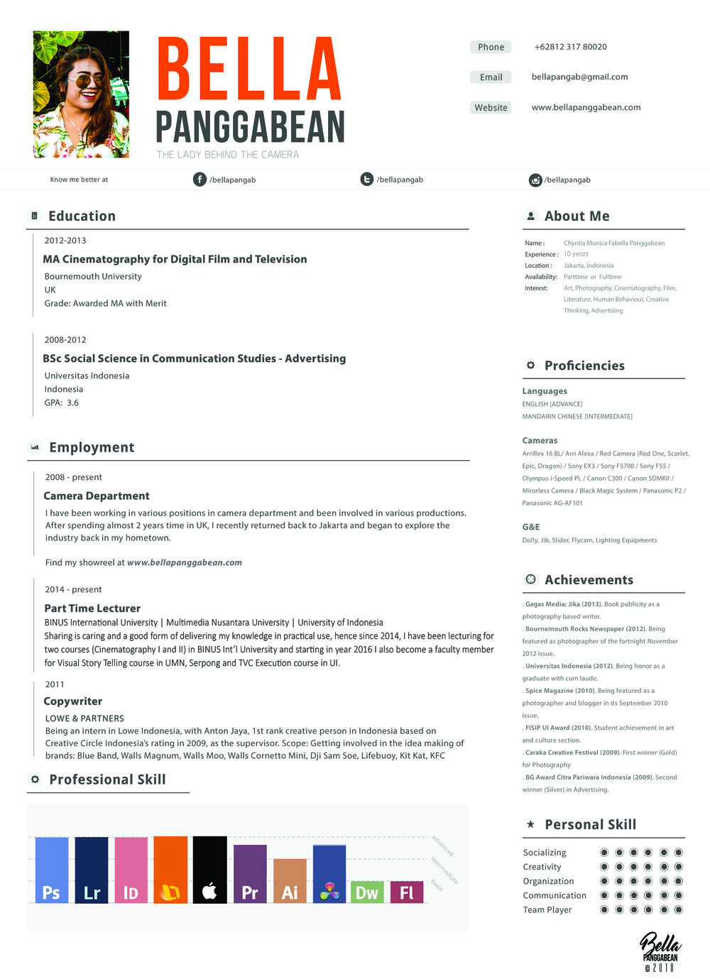 CV BELLA PANGGABEAN 2018