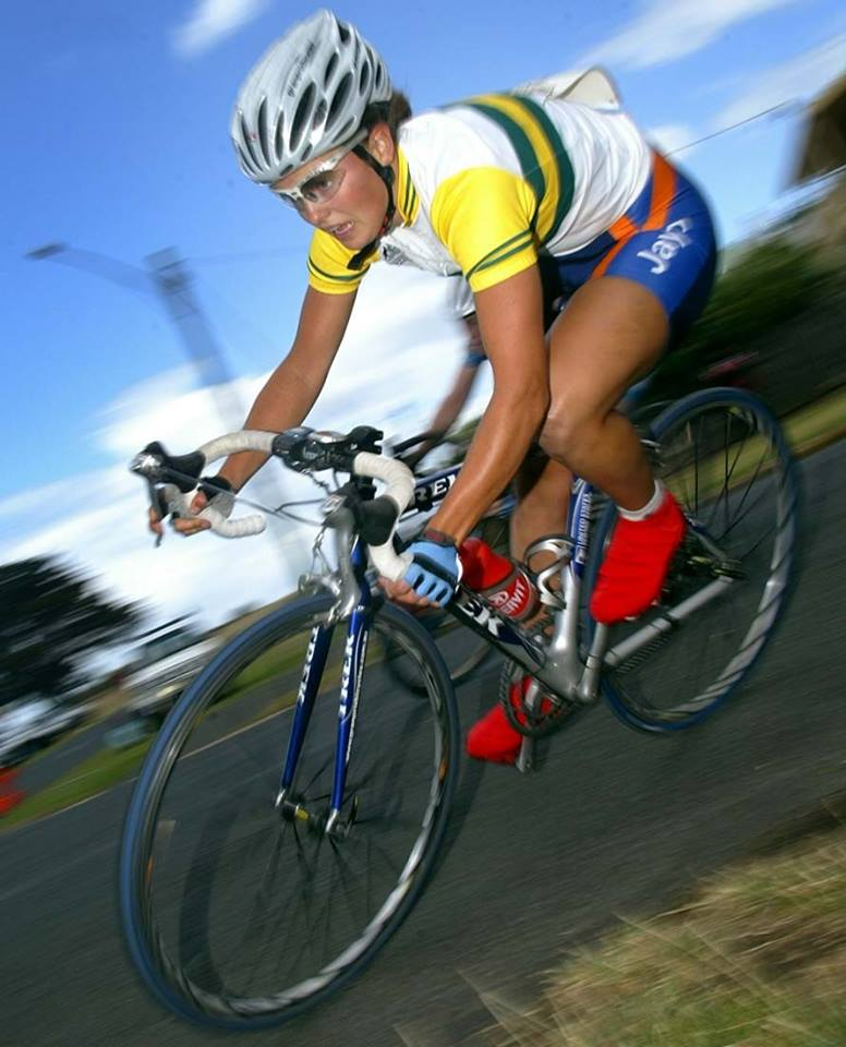blast from the past!  Me as a young 19 year old donning my new National Champs jersey