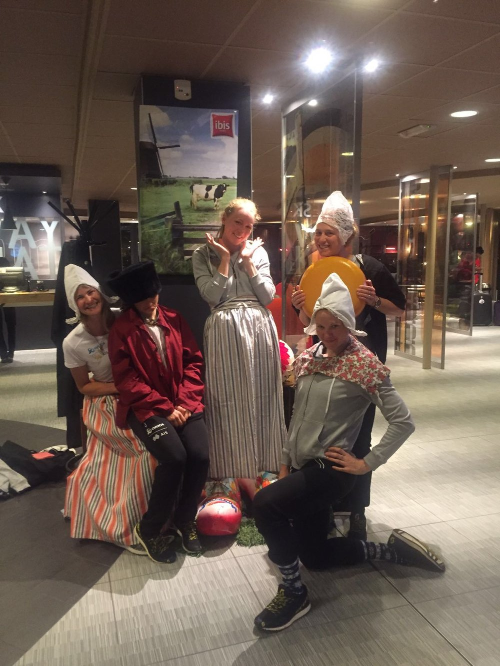 I'll miss these kind of antics with my OGEFrocks. Things you get up to in Ibis Budget Hotels post races.