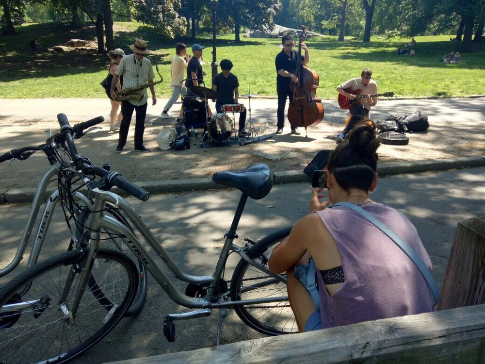 These buskers in Central park were from Australia
