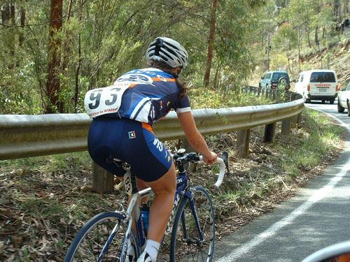 Me as a youngster. Climbing up Baw Baw. Still one of the hardest climbs I've ever done.