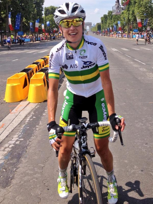 Racing for Australia in the first 'La Course' around the Champs Elysees in 2014 is one of many highlights of my cycling career. A day I will never forget!