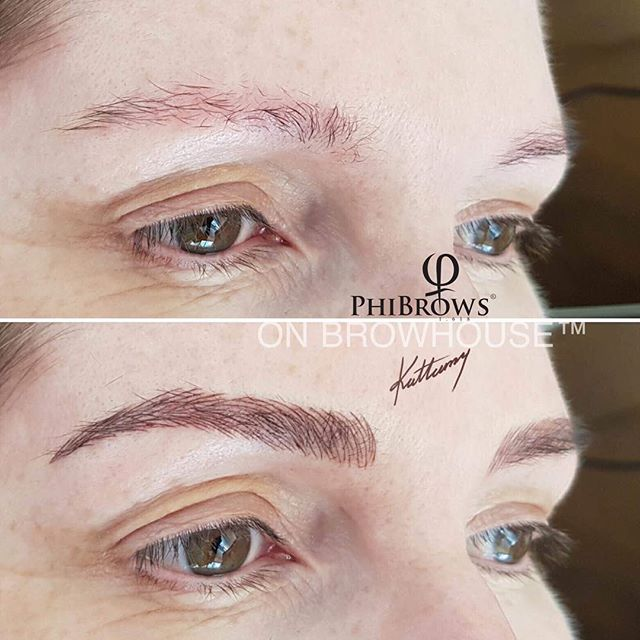 Make your brows softer, one hair at a time x #microblading #microbladingeyebrows #eyebrowtattoo #nofilter #onbrowhouse #nocookiecutter #phibrows #phibrowsartist