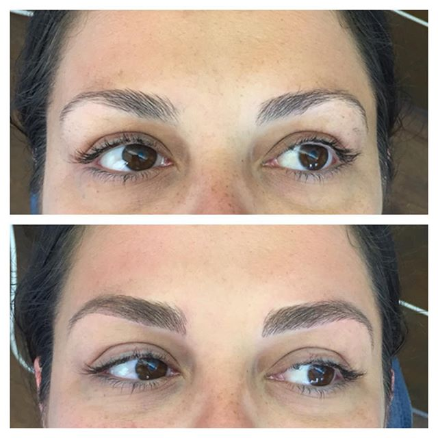 We can't stop staring at these brows 😍 #onbrowhouse #phibrows #phibrowsartist #microblading #microbladingeyebrows #aucklandbrowspecialist #aucklandbrows #featherbrows