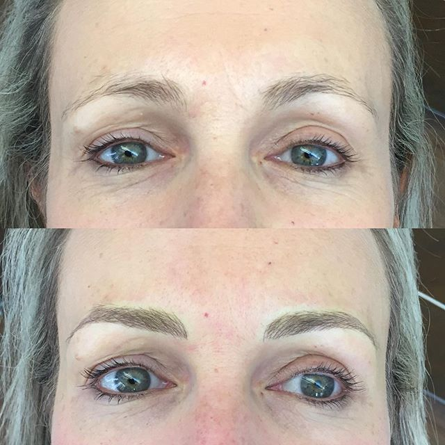 How's that for a transformation? By subtly lifting the arch points and tails, we can open up the eyes. Still subtle, still you, only better ☺️ #microblading #microbladingeyebrows #feathertattoo #featherbrows #aucklandbrowspecialist #onbrowhouse #phibrows #phibrowsartist #aucklandbrowtattooing