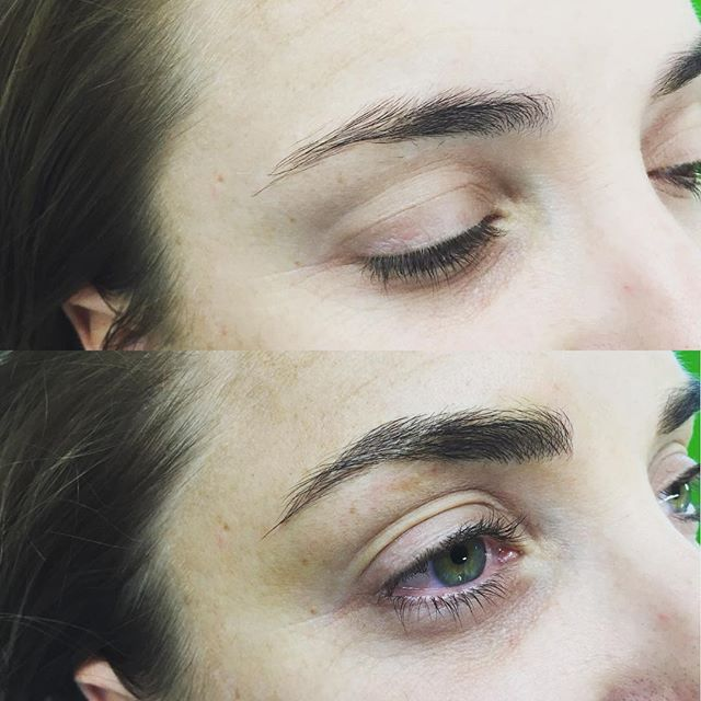 A subtle lift of arch point can make all the difference #microblading #microbladingeyebrows #believablebrows #phibrows #phibrowsartist #christchurchbrows #christchurchmicroblading #onbrowhouse