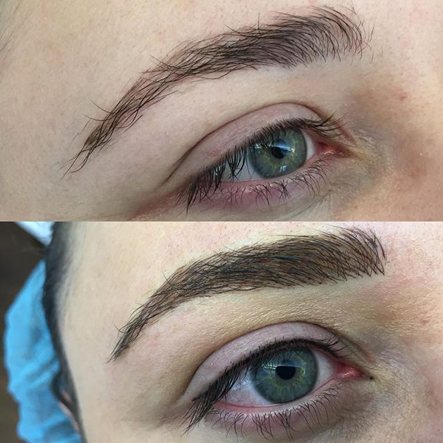 #facechangefriday brand new #microblading and #eyelinertattoo /lash line enhancement for this beauty. #eyebrowtattoo #eyebrowsonfleek #eyebrowmicroblading #onbrowhouse #eyelinerpmu #lashlineenhancement