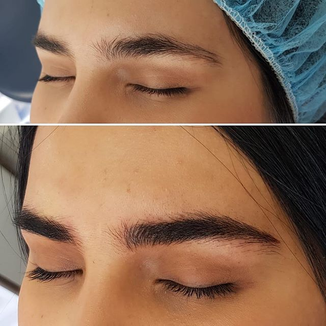 Even great brows can benefit from microblading when done with a sympathetic approach, respecting the natural eyebrow and embracing the beauty in imperfection - Wonderful example by Katt of fluffy and believable brows #microblading #aucklandbrowspecialist #onbrowhouse#believablebrows #eyebrowmicroblading #phibrows