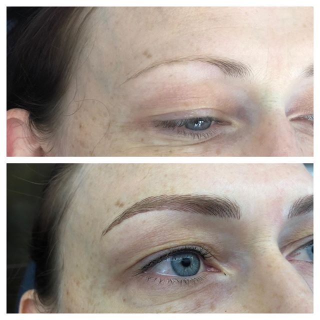 First session #microblading and subtle #lashlineenhancement #onbrowhouse #spmu #phibrows #aucklandbrows #believablebrows