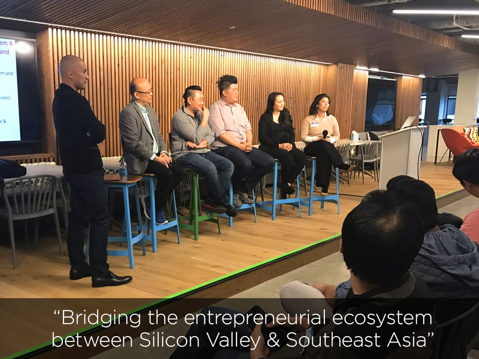 SEA Connect April 6, 2017 @ Udemy San Francisco  with Managing Partner Peng T. Ong, Victor Tan (SGInnovate), Paul Yang (Lomotif), Lucy Keoni (StartUp Rising) and Christina Lakowski (STAC-SV)