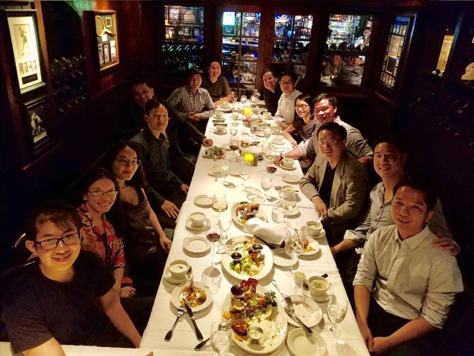 Founders' Dinner in Palo Alto, California  on September 2017 with Operating Advisor Justin Nguyen