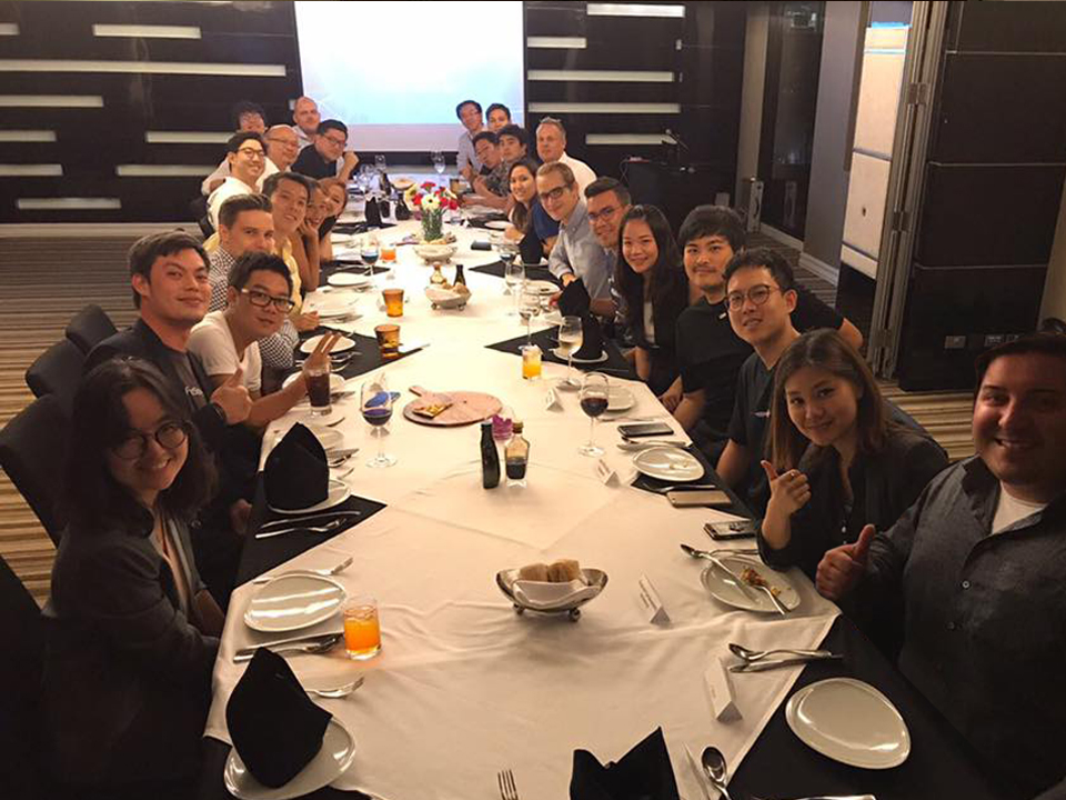 Founders' Dinner in Bangkok, Thailand  on July 2017 with Managing Partner Peng T. Ong