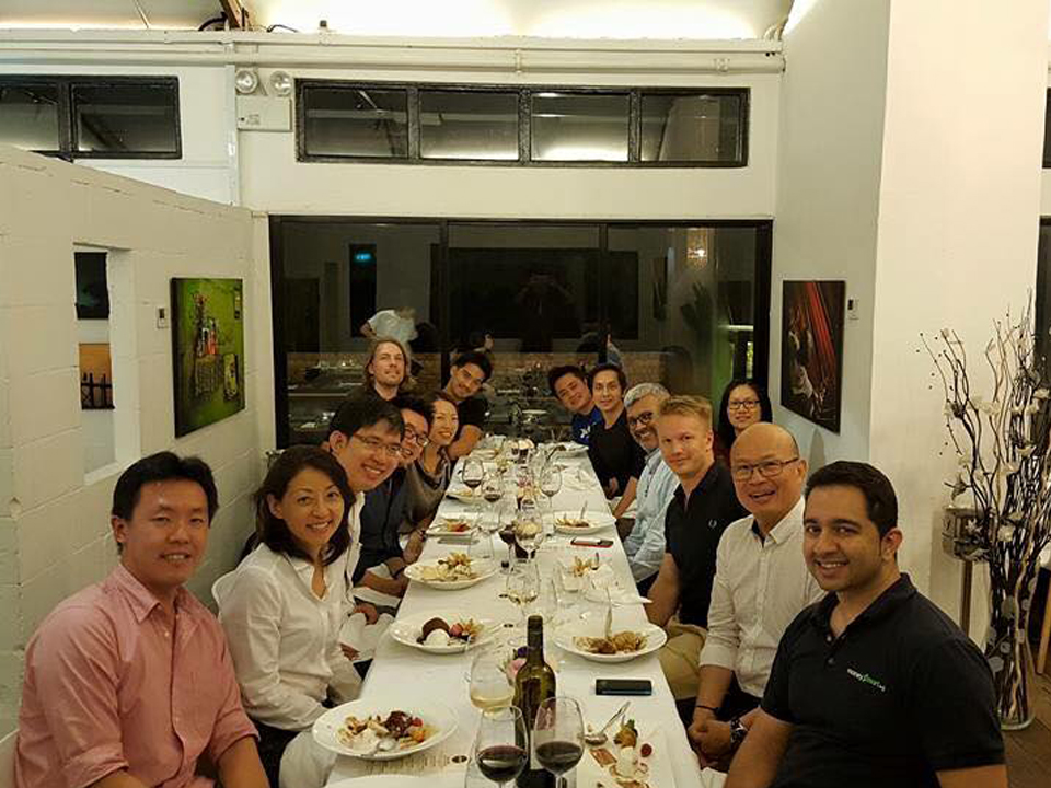 Founders' Dinner in Singapore  on July 2015 with Managing Partner Peng T. Ong