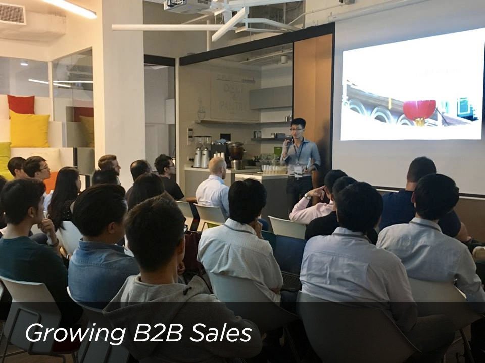 Startup Workshop: Growing B2B Sales  in Singapore   with Gabriel Lim (Saleswhale) and Wai Hong Fong (Storehub)  .